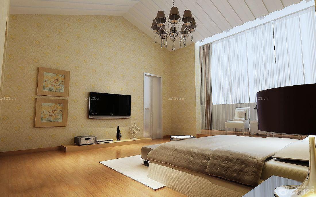 欧式阁楼卧室电视背景墙装修效果图