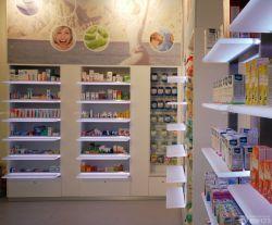藥店室內擱板置物架裝修設計效果圖片