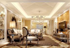客廳連餐廳吊頂效果圖 歐式風格裝修