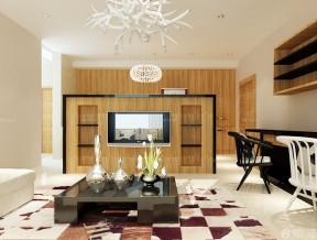 小客厅电视墙 木质背景墙装修效果图片