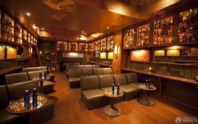现代酒吧装修创意酒架设计效果图图片
