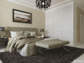 臥室墻紙裝修效果圖 復古碎花壁紙圖片