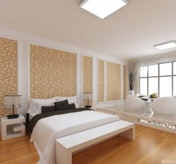 現代時尚臥室墻面顏色裝修圖片