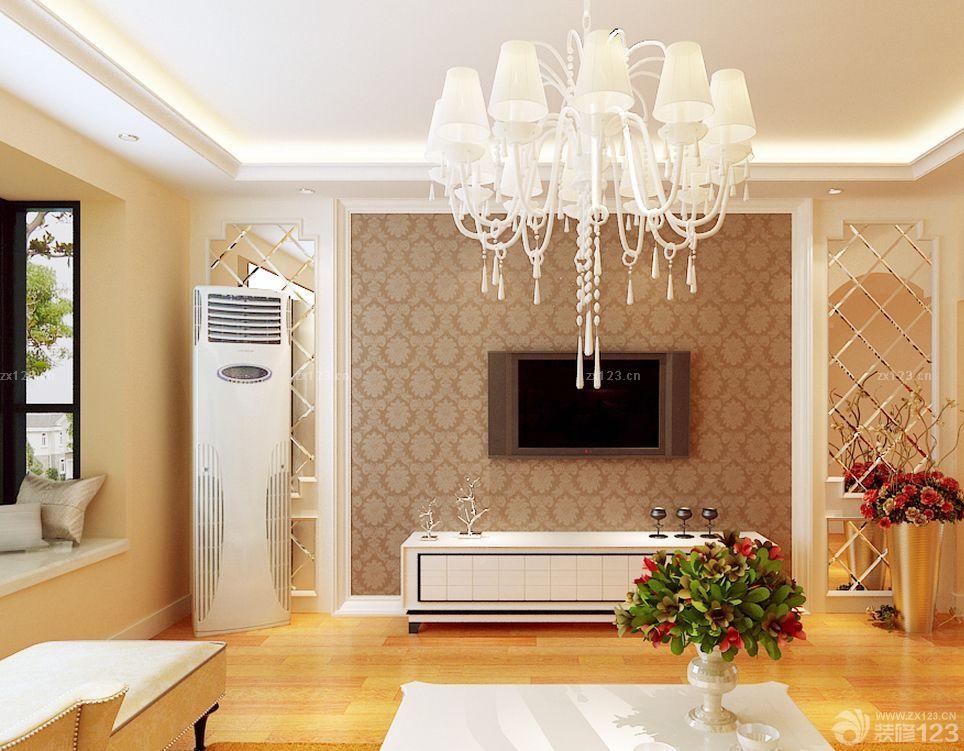 榻榻米客厅简约吊灯装修效果图片