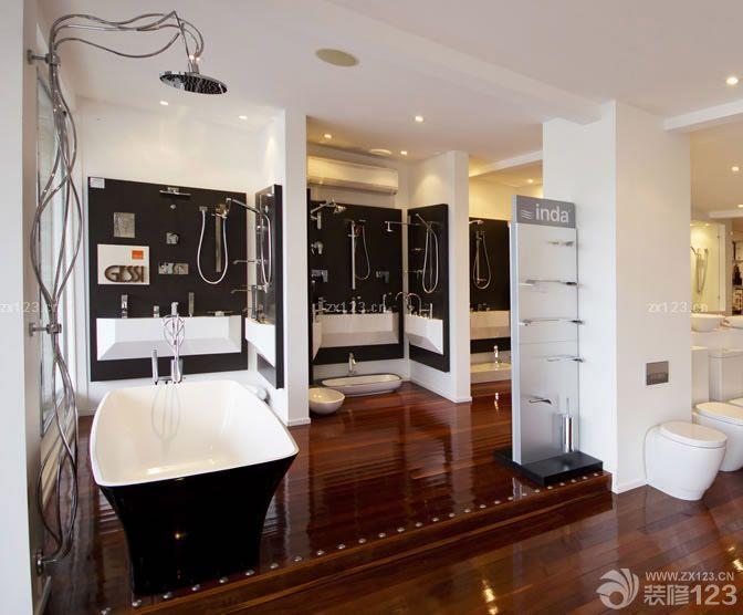 卫浴展厅室内隔断墙装修效果图片欣赏