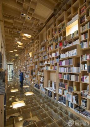 大型图书馆室内创意书架设计效果图片欣赏