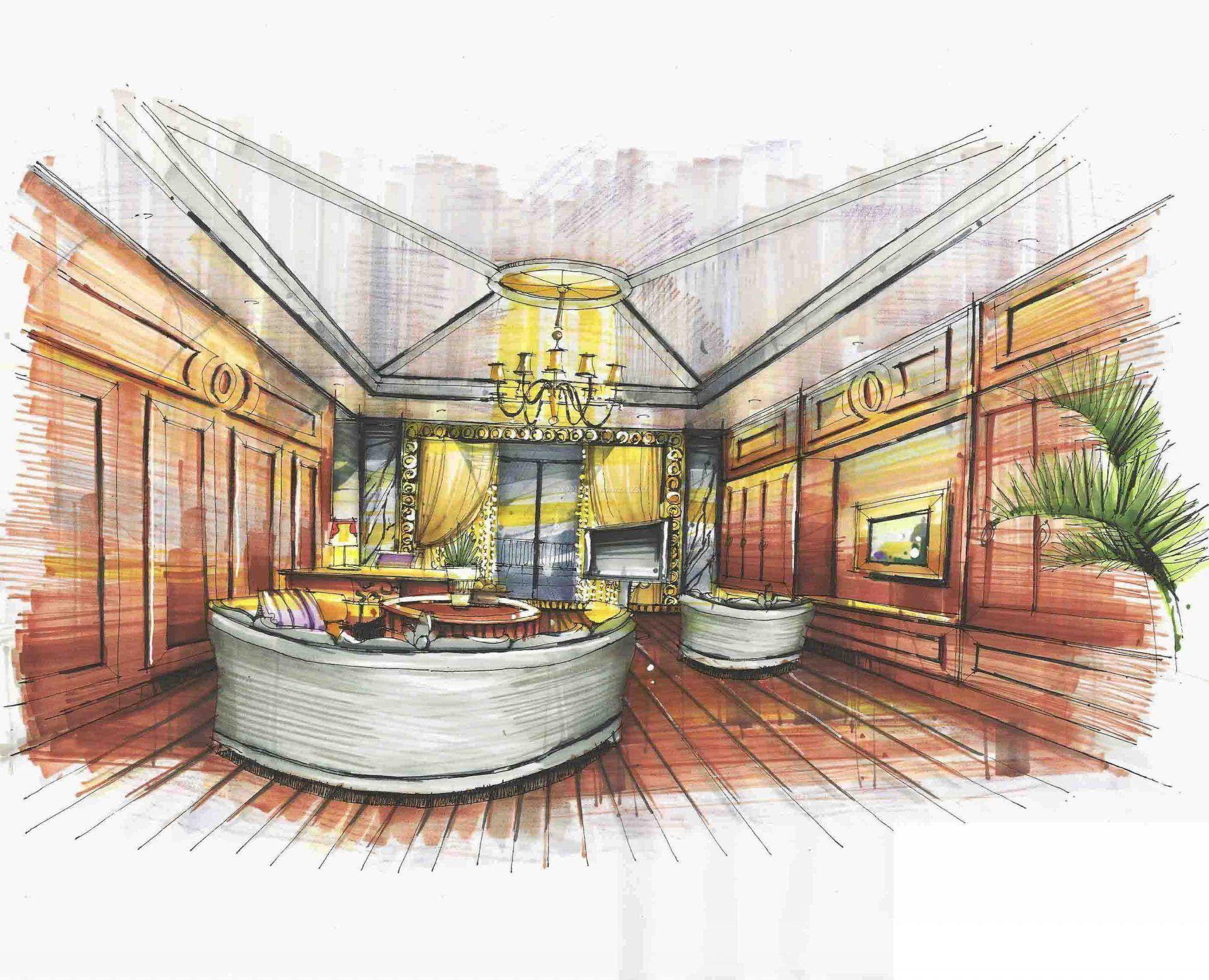 西餐厅厨房设计手绘_手绘