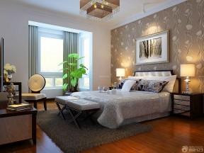 卧室壁纸图片大全 压纹壁纸装修效果图片