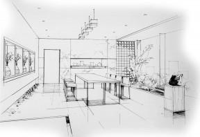 会议室手绘效果图 室内设计手绘效果图图片