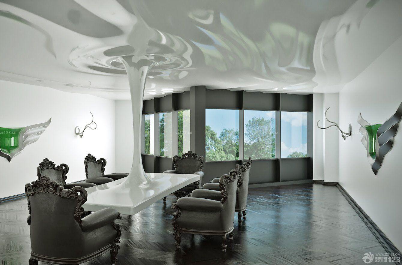 时尚会议室室内装饰品装修效果图