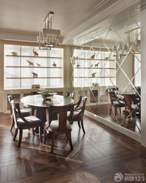 新古典裝修樣板房 餐廳圓餐桌