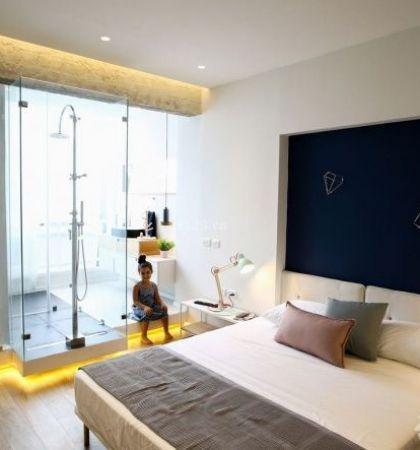 房屋卧室装饰灯带装修效果图片