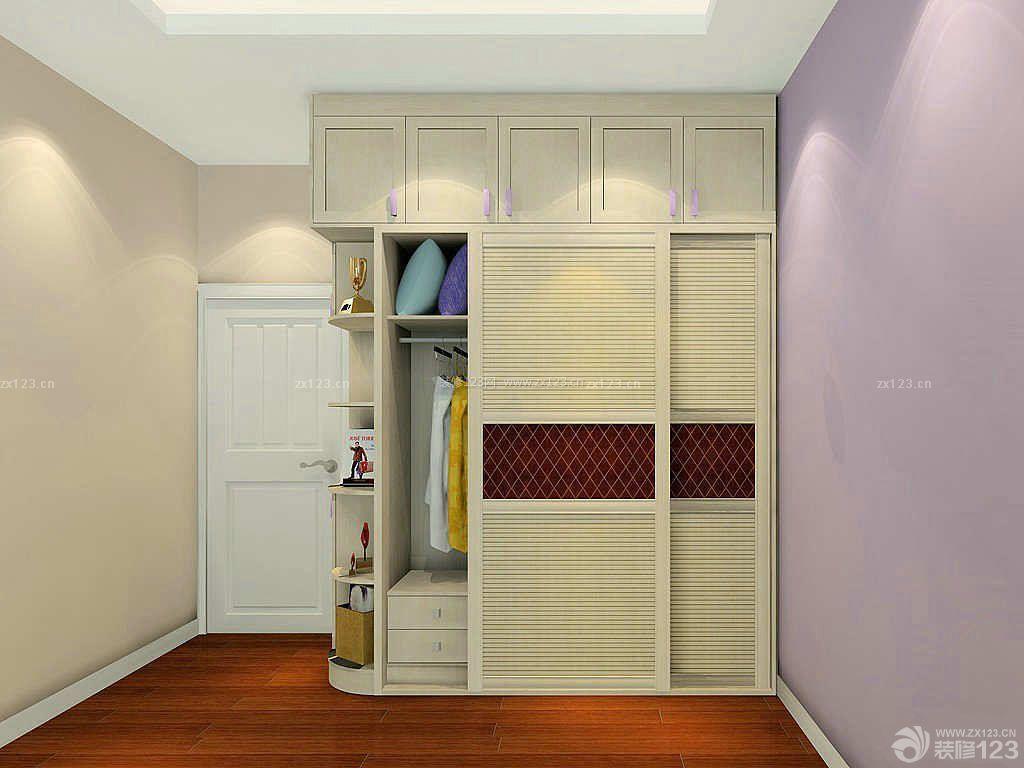 现代时尚卧室衣柜内部设计装修图