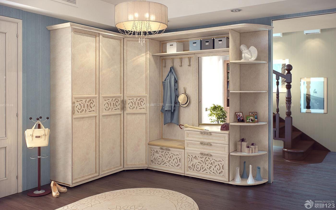 欧式家装卧室衣柜内部设计效果图