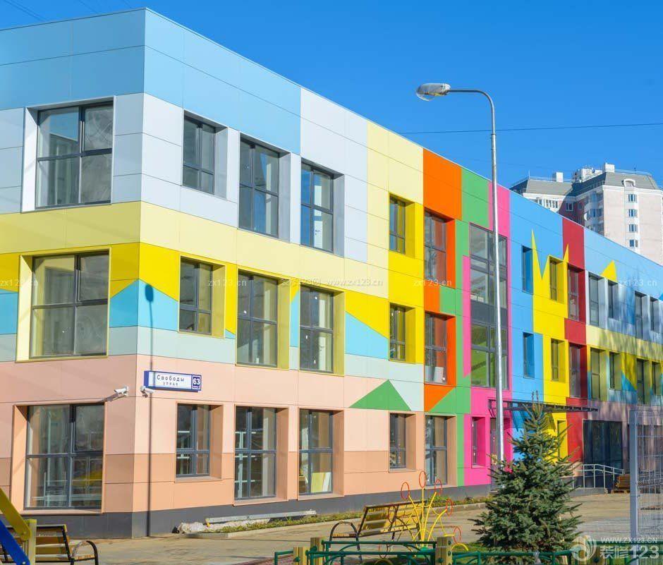 现代幼儿园外观设计效果图片大全