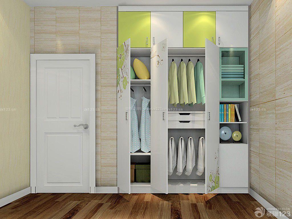 简约室内卧室衣柜内部设计装修图