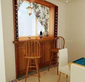 餐廳吧臺吧椅裝修效果圖片-每日推薦