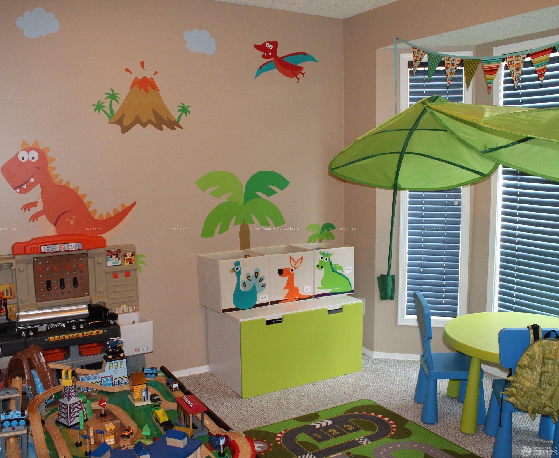 幼儿园室内隔断帘装修效果图图片