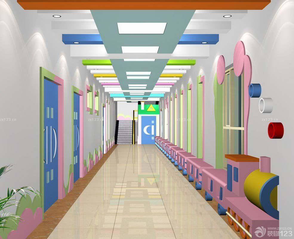 幼儿园室内过道吊顶设计装修效果图片