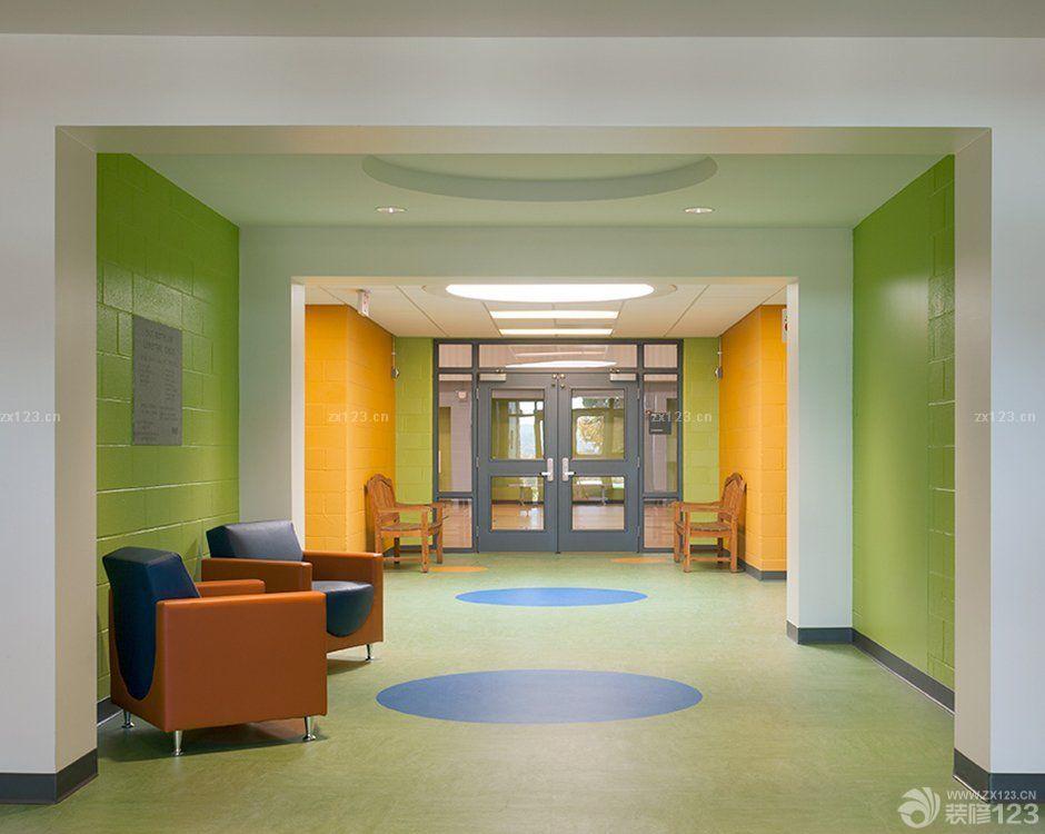 幼儿园大厅吊顶造型装修效果图图片大全