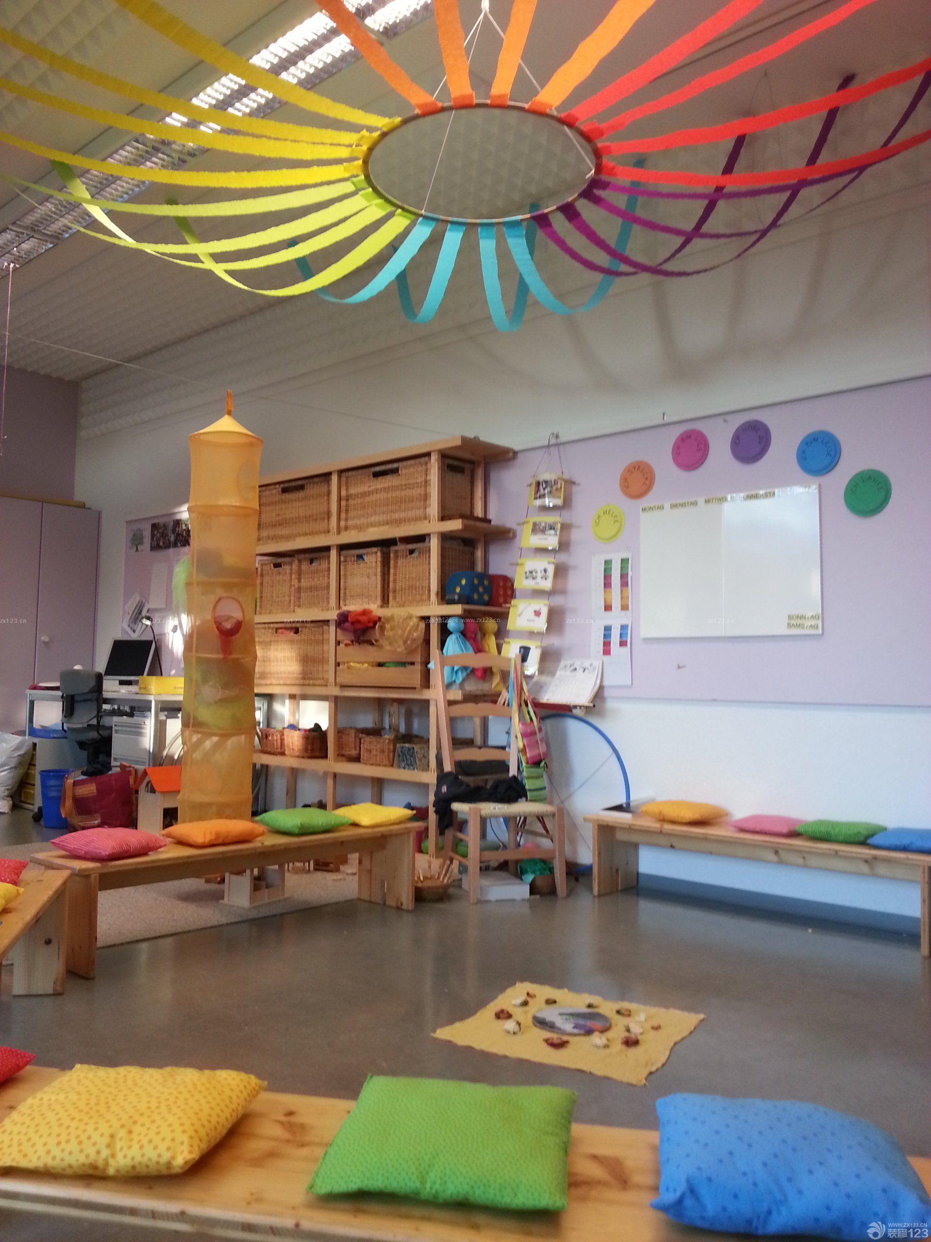 小型幼儿园室内装饰装修效果图图片