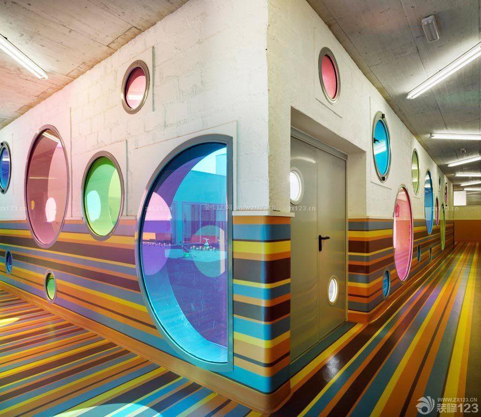 国外幼儿园室内教室装修图图片