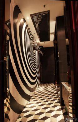 法式风格走廊拼花地砖装修效果图片