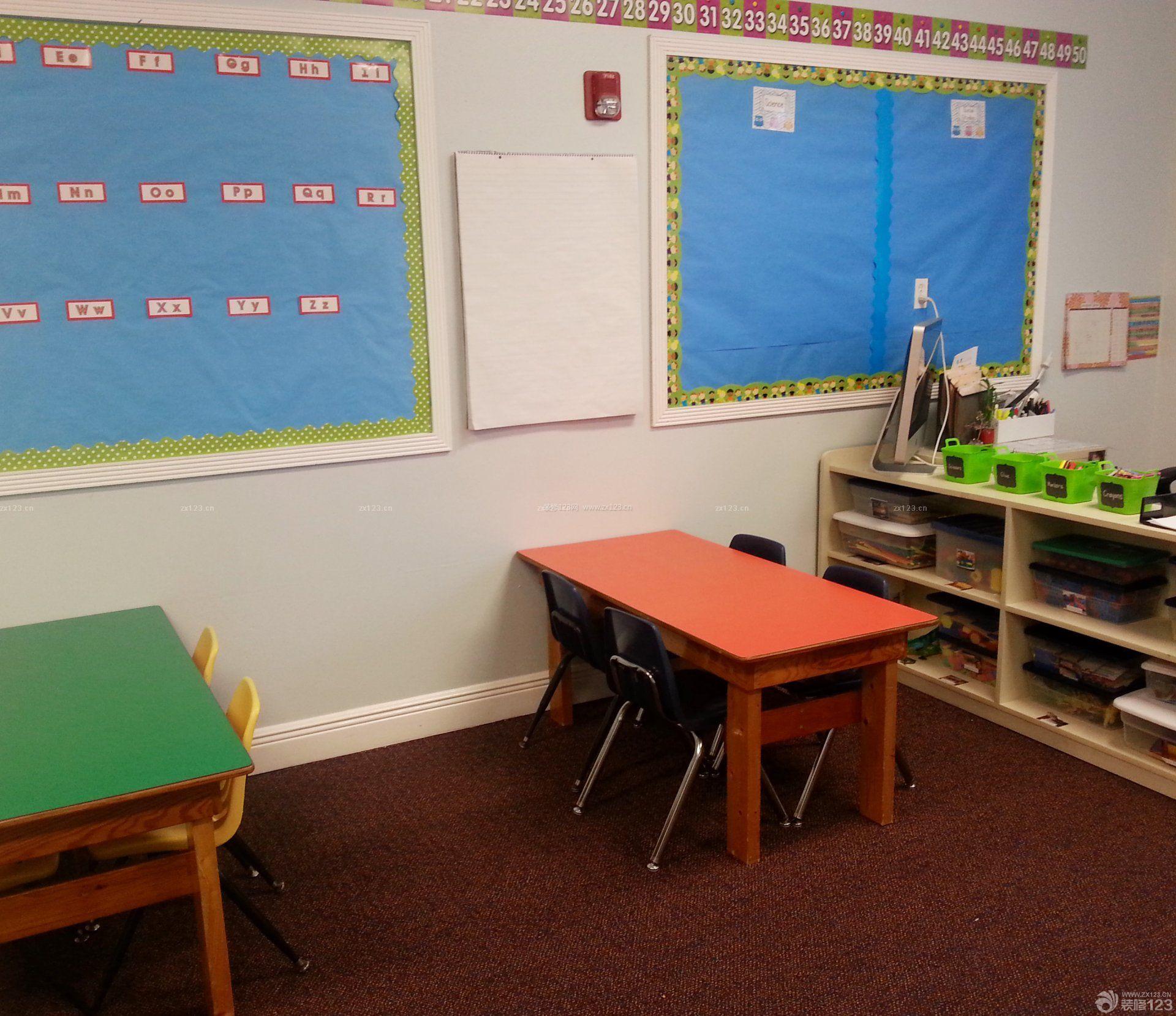 幼儿园简约室内装修设计效果图图片