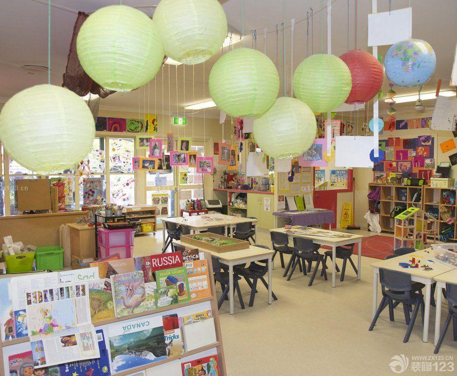 国外幼儿园室内装饰设计效果图2016图片