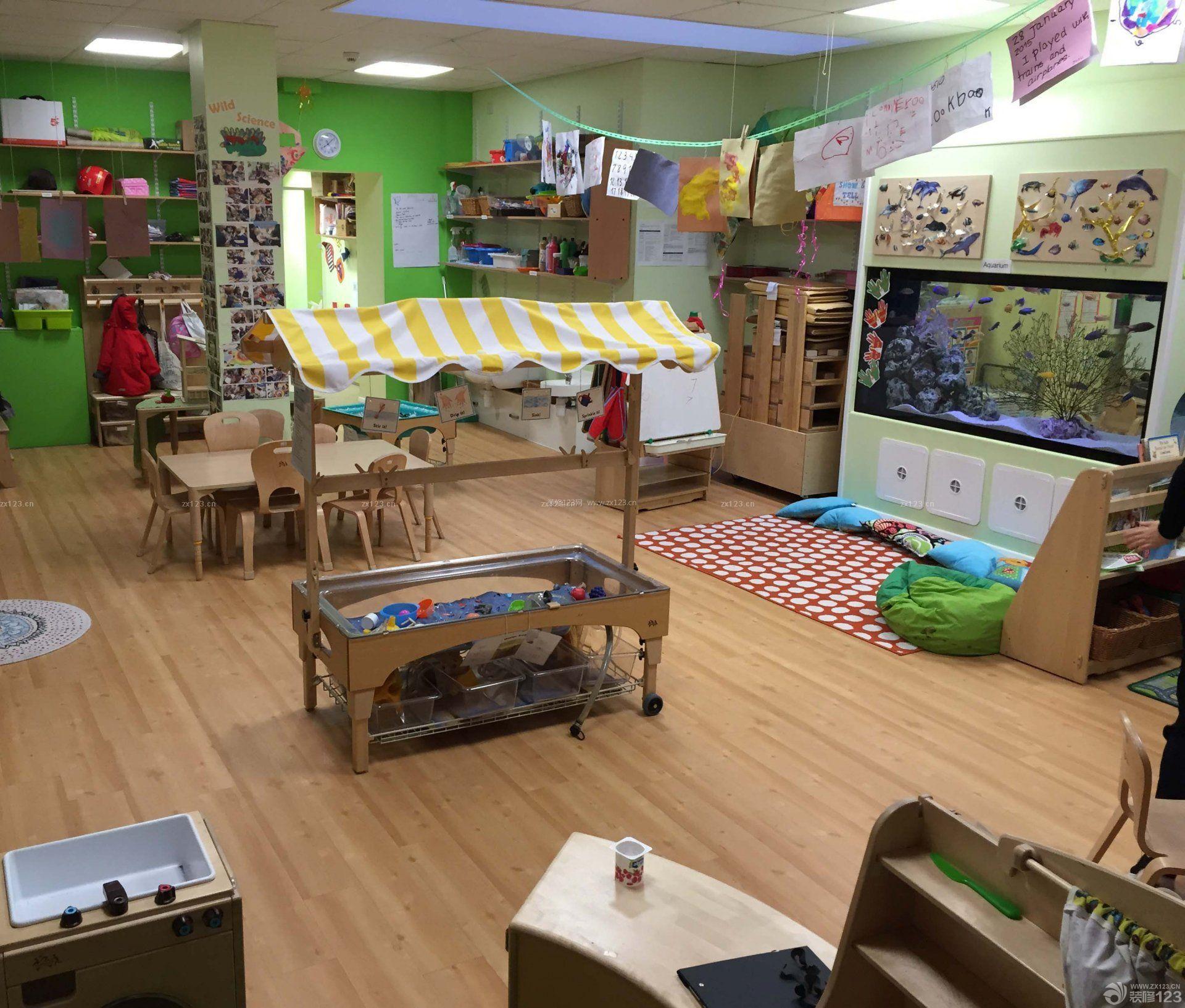 幼儿园设计室内原木地板装修效果图片