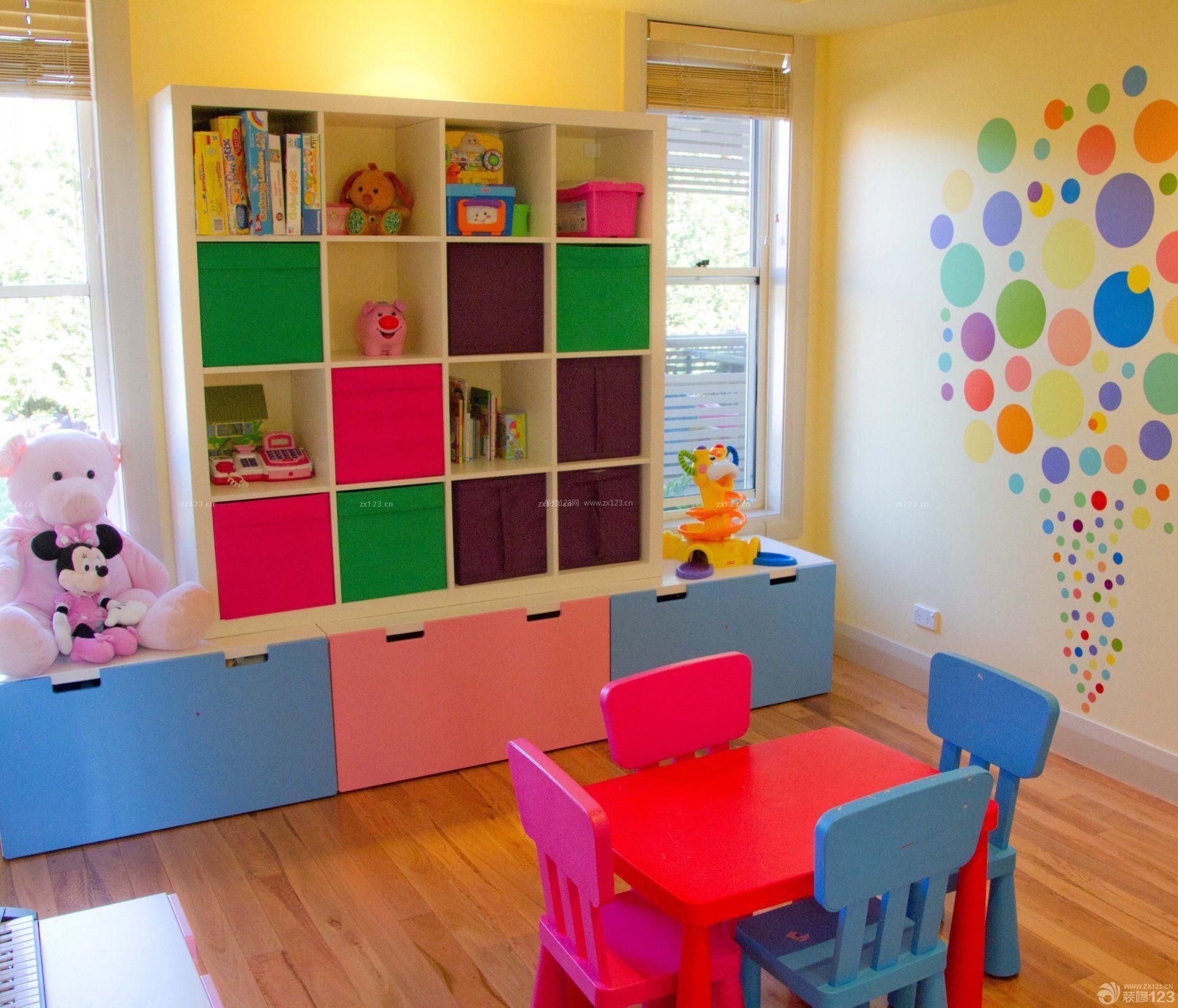幼儿园教室柜子装修效果图片大全
