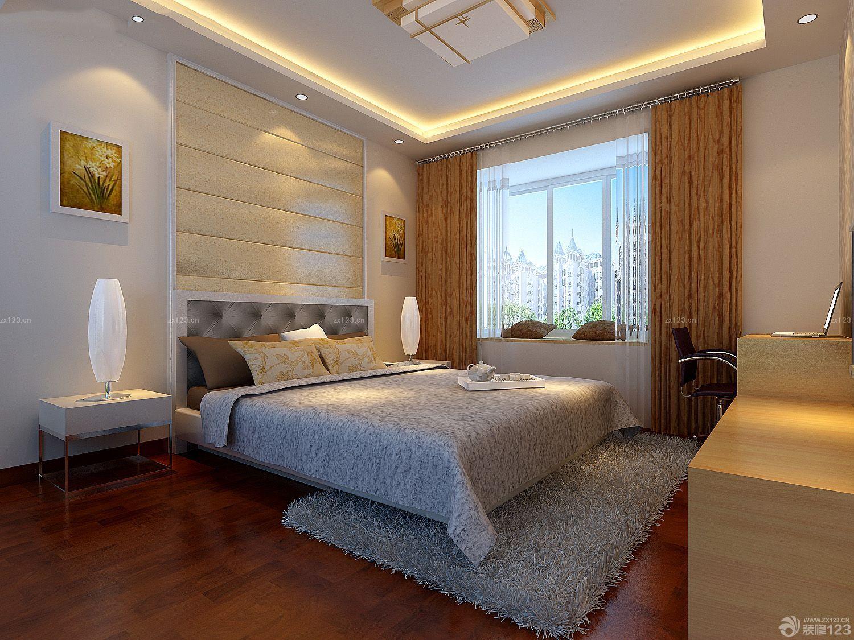 现代中式风格带飘窗的卧室效果图图片