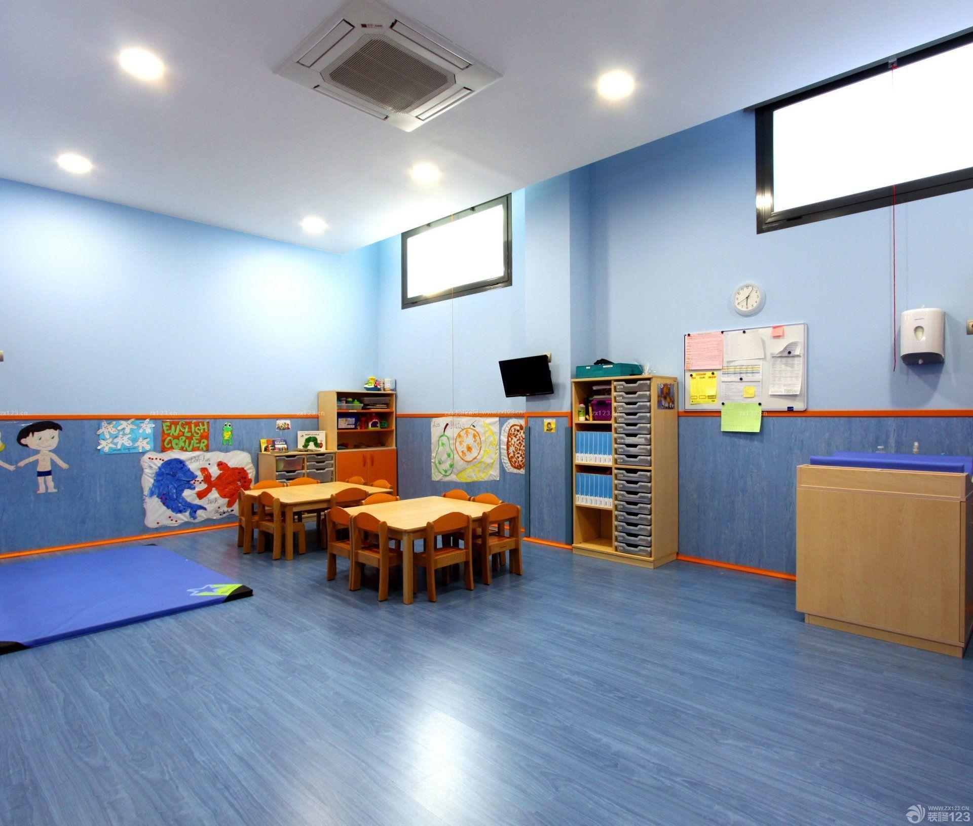 国际幼儿园教室吊顶装饰设计效果图片