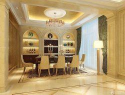 奢華別墅室內餐廳裝修效果圖片大全