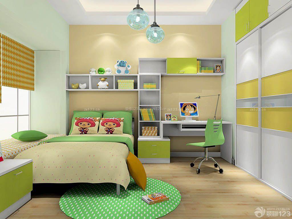 现代男生卧室室内装修效果图