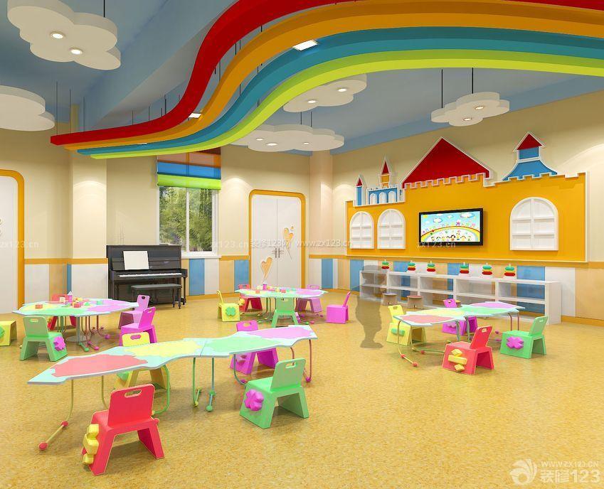 某高档幼儿园室内吊顶装饰装修设计效果图片