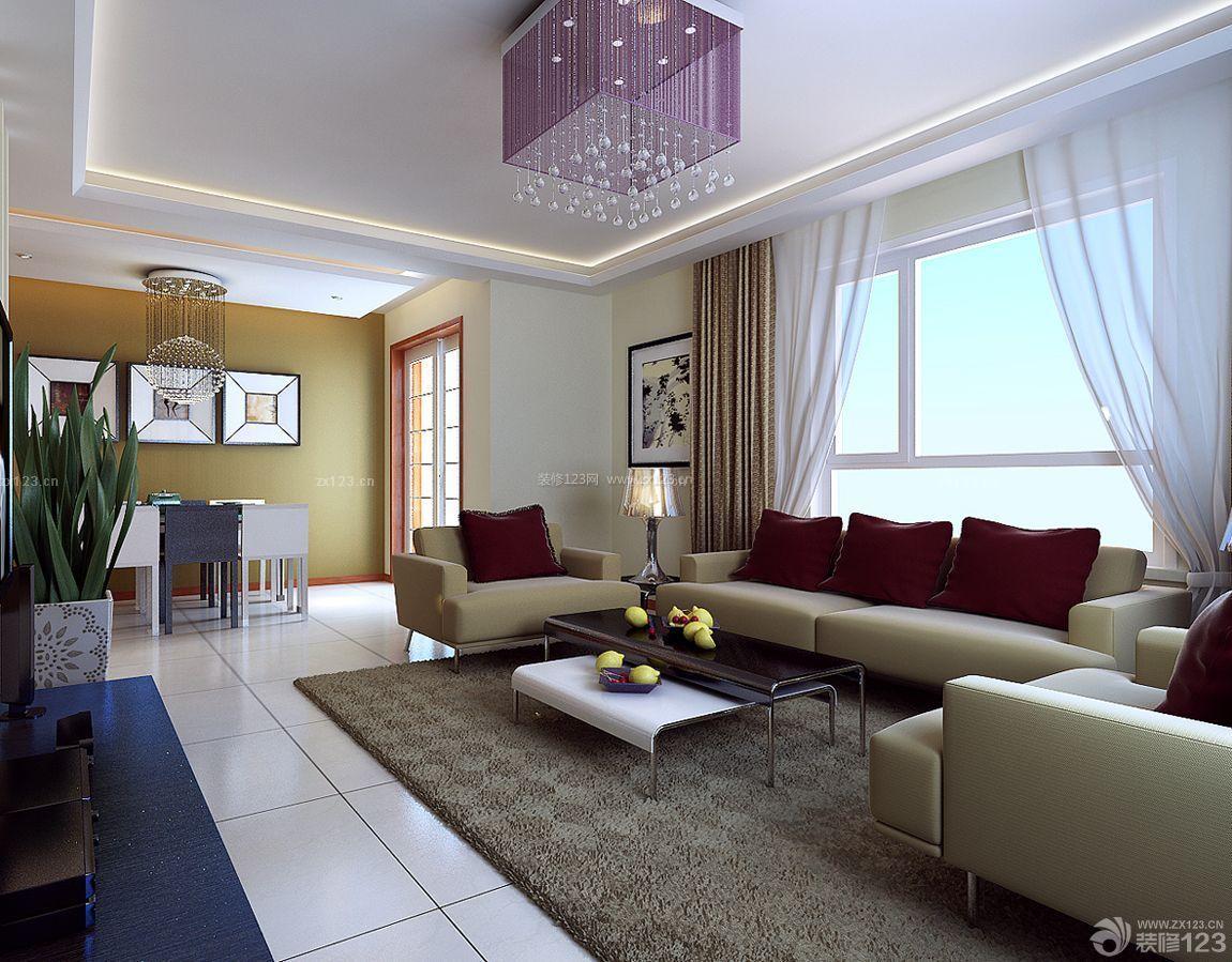 农村别墅室内客厅和餐厅装修效果图