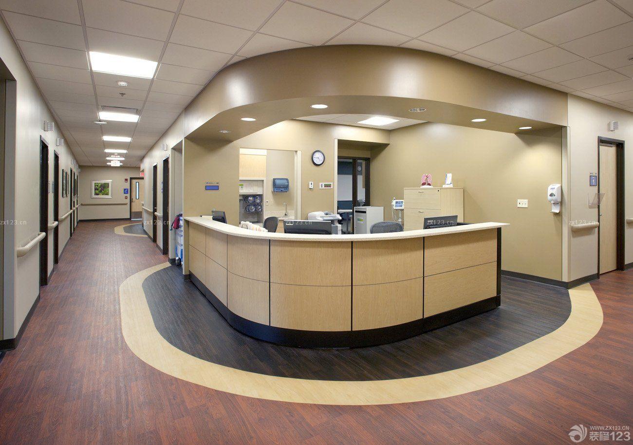 医院走廊壁纸背景墙效果图片