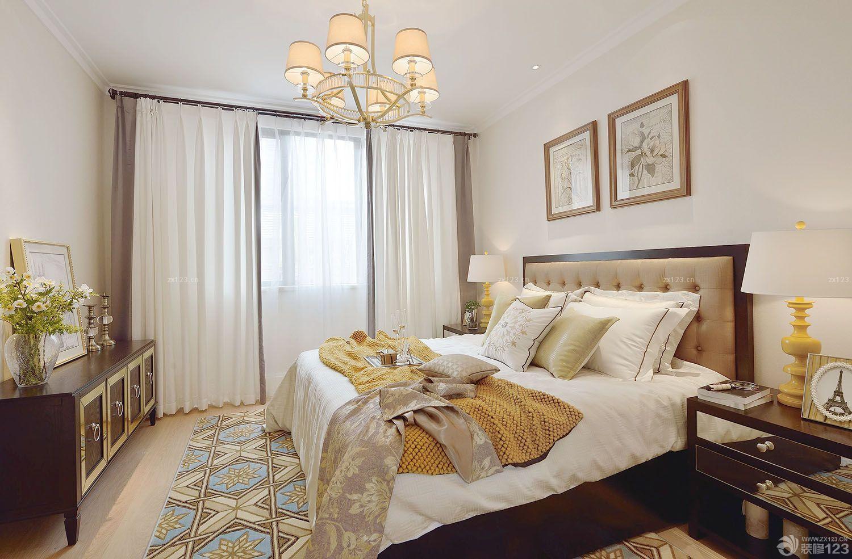 欧式古典风格卧室挂画装修效果图
