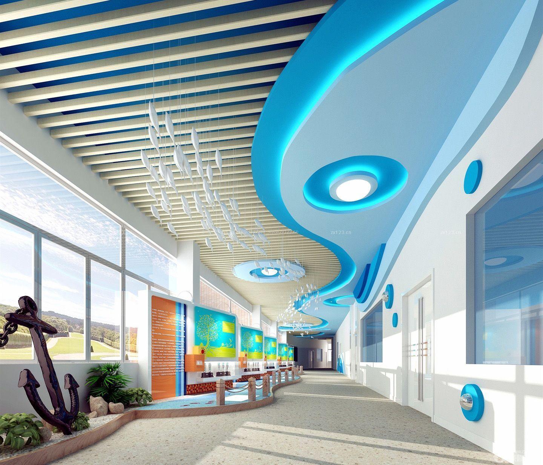 幼儿园走廊吊顶造型装修效果图片