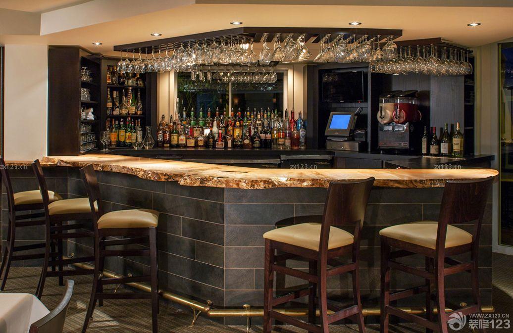 别墅家庭酒吧地下室设计装修效果图