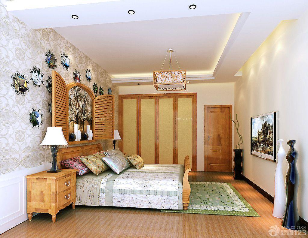 现代简约中式风格卧室橱柜效果图_装修123效果图图片