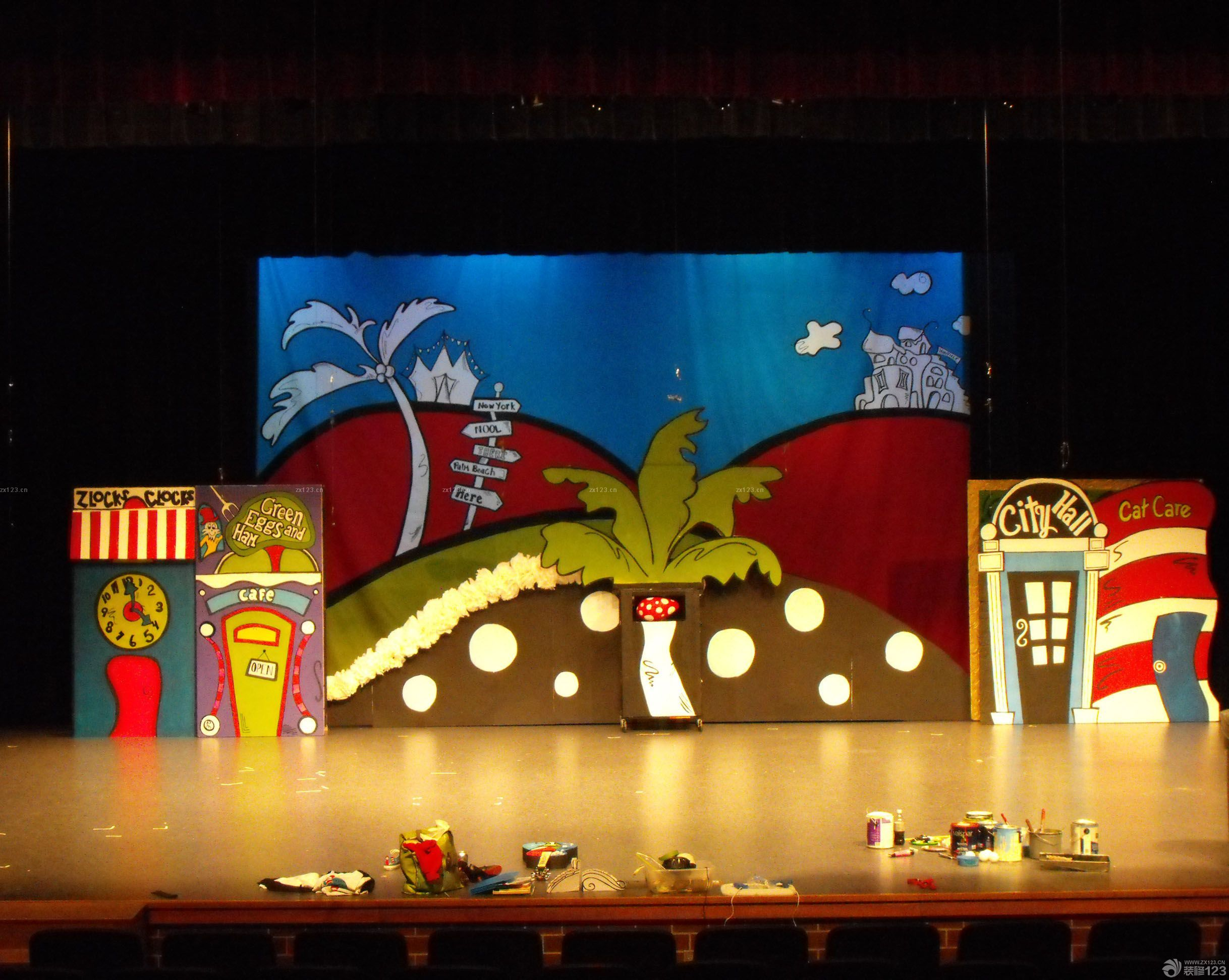 幼儿园舞台设计装修效果图片