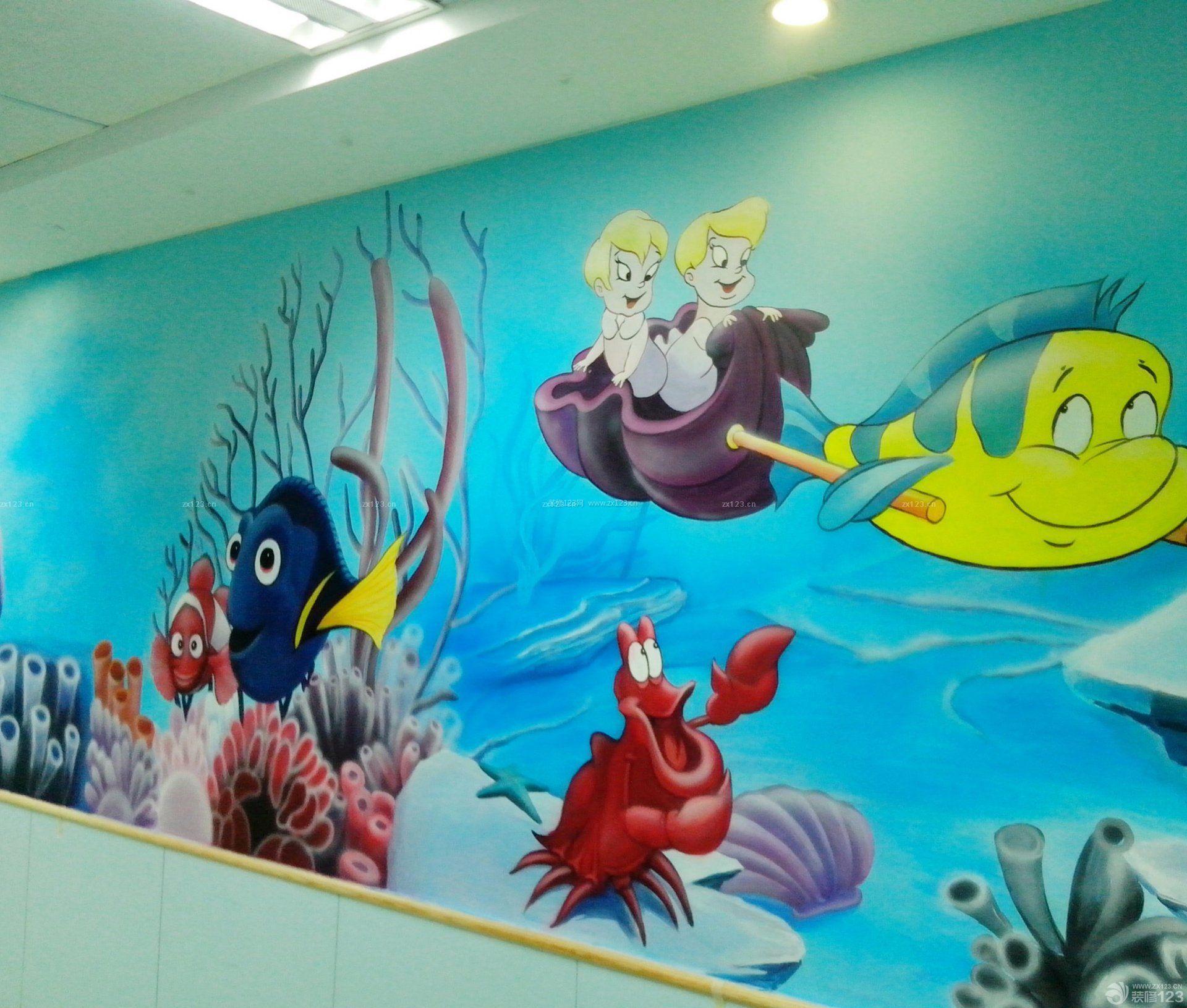 幼儿园室内手绘墙壁画设计效果图图片