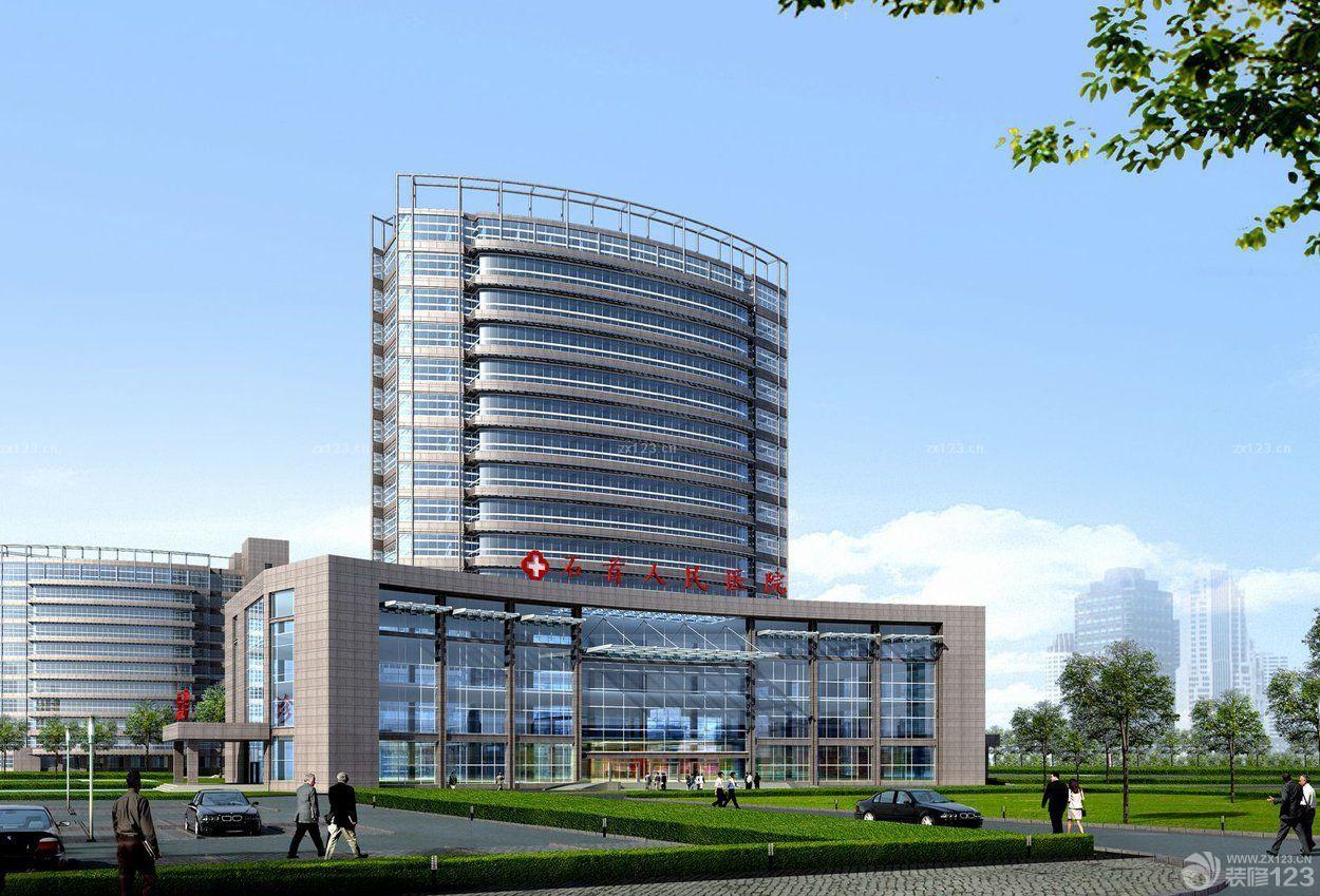 现代医院外观设计装修效果图