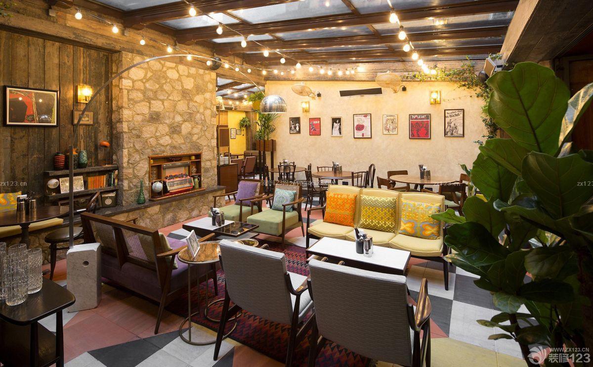 乡村复古酒吧装修设计