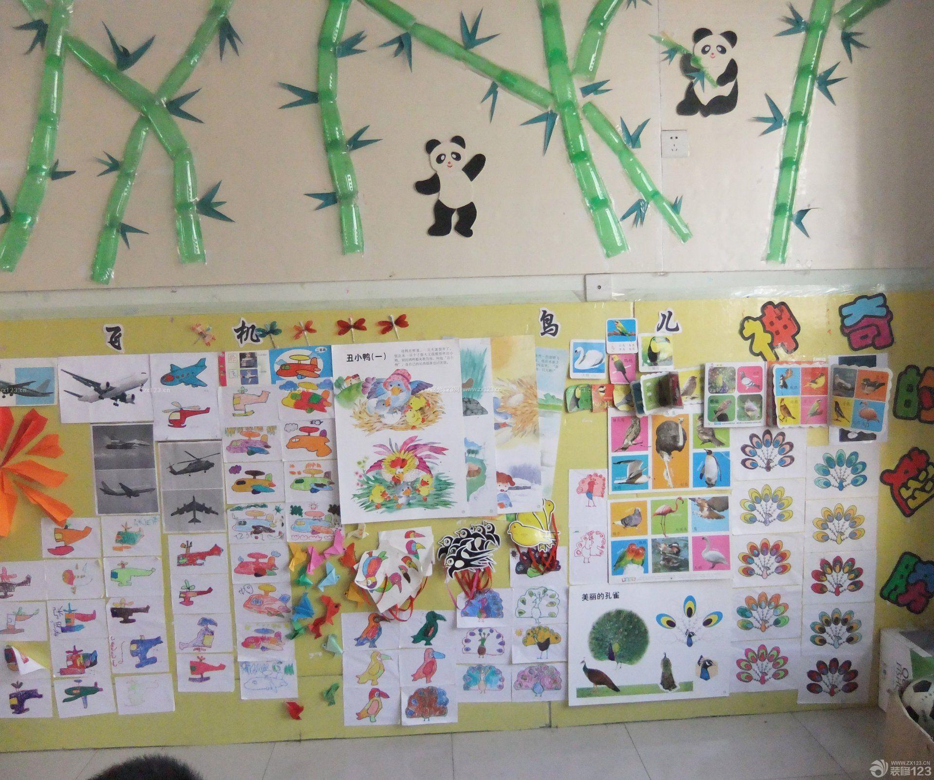 幼儿园照片墙设计效果图片