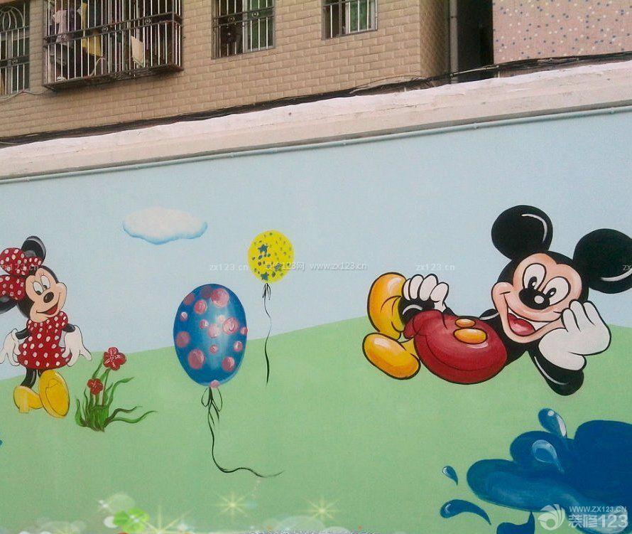 某市区幼儿园手绘墙壁画设计图片大全_装修1