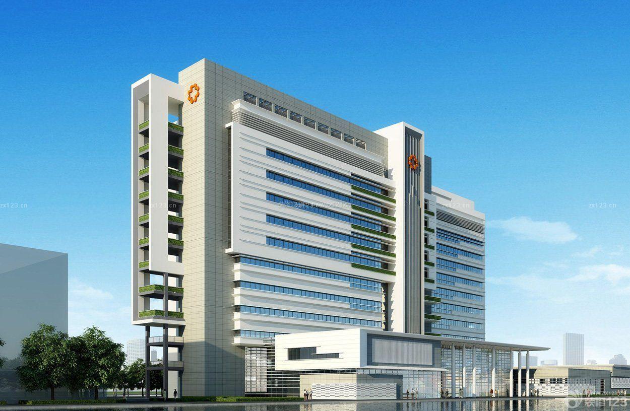医院logo形象墙外观设计图片_装修123效果图