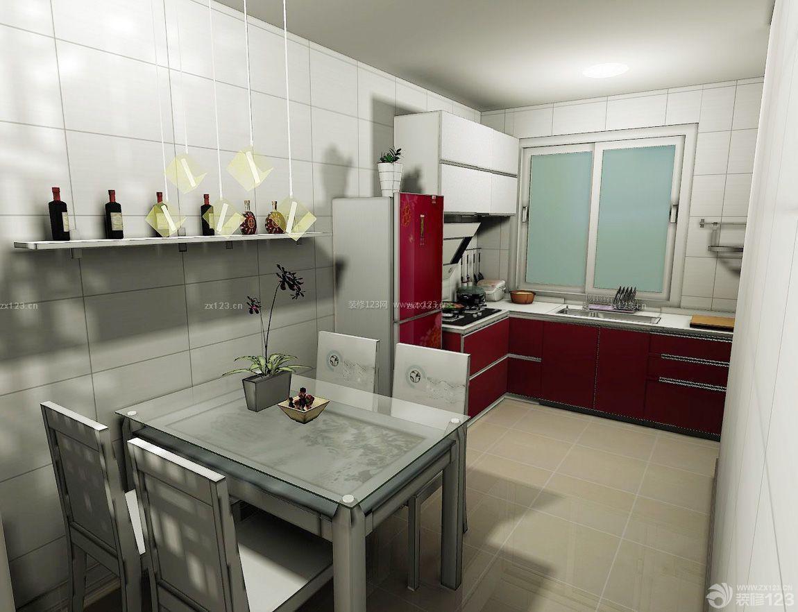 农村住房餐厅厨房设计效果图_装修123效果图